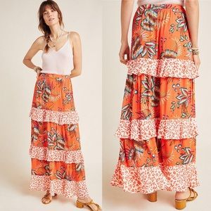 Farm Rio Amabella tiered maxi skirt NWT